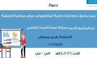 برنامج دعم أبحاث طلبة البكالوريوس